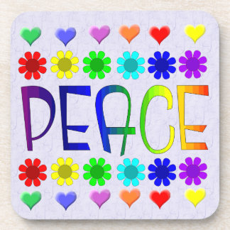 Peace and Flowers Beverage Coaster