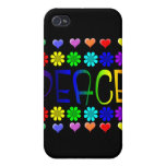 Peace and Flowers Cases For iPhone 4