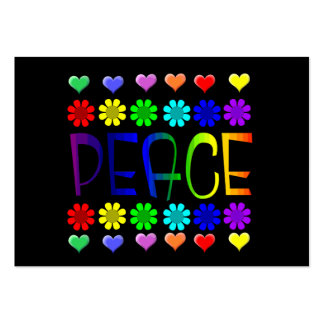 Peace and Flowers Large Business Card