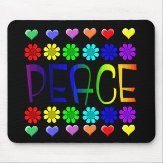 Peace and Flowers Mouse Pad
