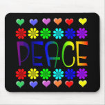Peace and Flowers Mouse Pads