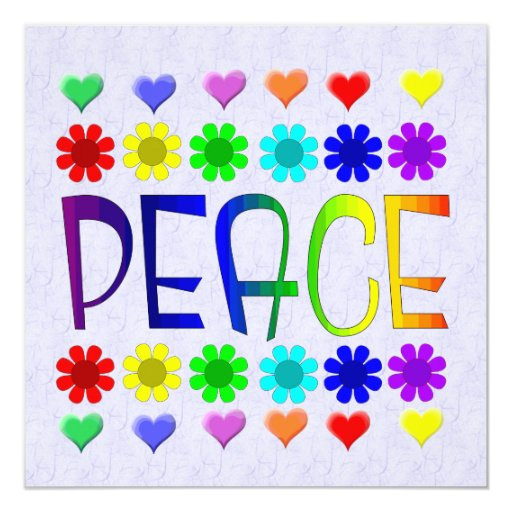 Peace and Flowers Personalized Invitation