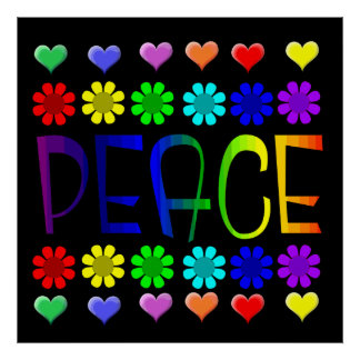 Peace and Flowers Posters