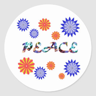 Peace and Flowers Stickers