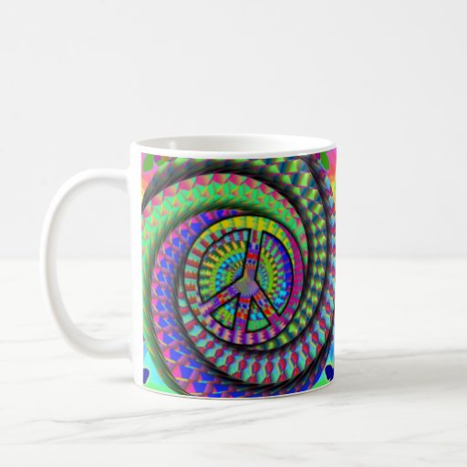 Peace and Flutterby Coffee Cup Classic White Coffee Mug