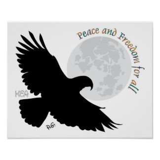 Peace and Freedom póster for todo Poster