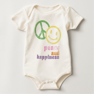 peace and happiness baby bodysuit