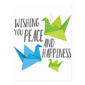 Peace and Happiness Postcard