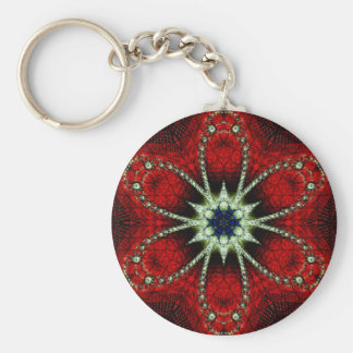 Peace and Harmony Basic Round Button Keychain