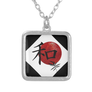 Peace and Harmony Square Pendant Necklace