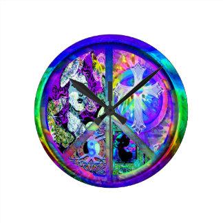 Peace and Harmony Round Clock