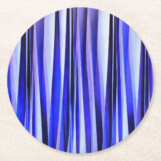Peace and Harmony Striped Abstract Pattern Round Paper Coaster