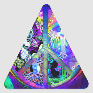 Peace and Harmony Triangle Sticker