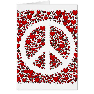 Peace and Hearts. Card