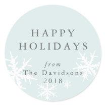 Peace and Joy Bright & Festive Sky Blue Sticker
