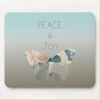 Peace and Joy Butterfly Mouse Pad