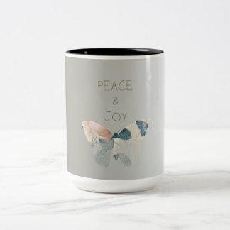 Peace and Joy Butterfly Two-Tone Coffee Mug
