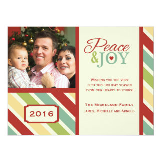 Peace and JOY Candy Cane Flat Card
