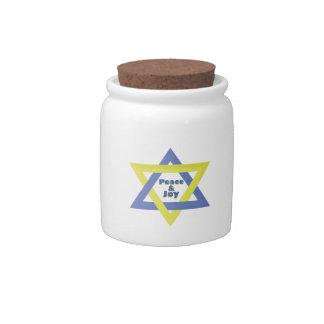 Peace and Joy Candy Jar