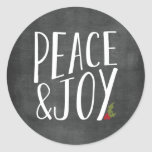 Peace and Joy Chalkboard Holiday Sticker