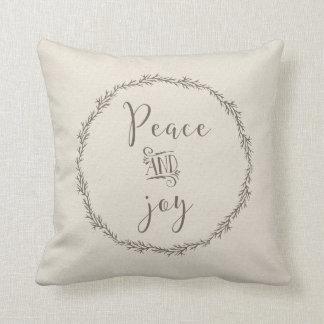 Peace and Joy Christmas pillow