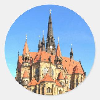 Peace and joy Garrison Church Dresden Germany Classic Round Sticker