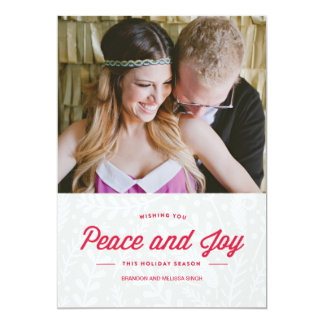 Peace and Joy Holiday Card