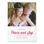 "Peace and Joy Holiday Card 5"" X 7"" Invitation Card"