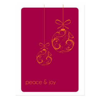 Peace and Joy Holiday Postcard