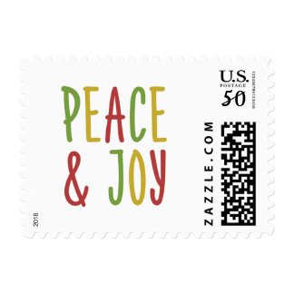 Peace and Joy Holiday Stamp