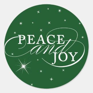 Peace and Joy Holiday Sticker