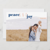 Peace and Joy (L) Holiday Card & Year in Review