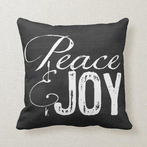 Joy Christmas Throw Pillows : Peace and Joy Pillow, Christmas Pillow, Rustic Throw Pillow Zazzle