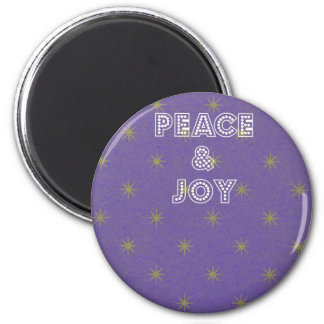Peace and Joy Stars Christmas Magnet