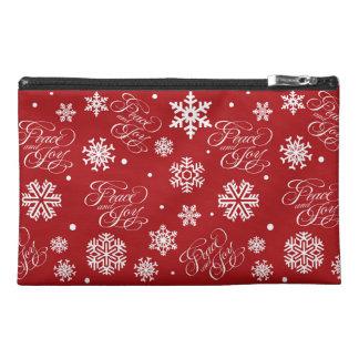 Peace and joy travel accessory bag