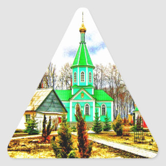 peace and joy voronezh russia monastery buildings triangle sticker
