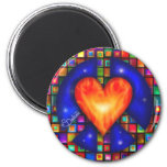 Peace and Love 2 Inch Round Magnet