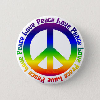 Peace and Love all around Button