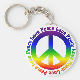 Peace and Love all around Keychain