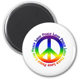 Peace and Love all around Magnet