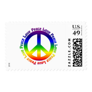 Peace and Love all around Postage