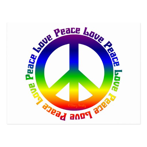 Peace and Love all around Postcard