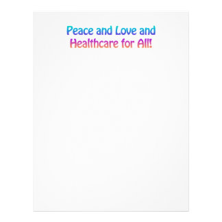 Peace and Love and Healthcare for All Letterhead