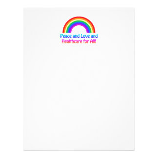 Peace and Love and Healthcare for All Rainbow Letterhead