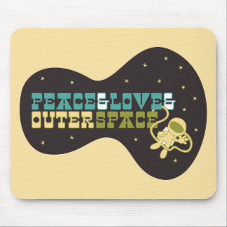 Peace and Love and Outer Space Mouse Pad