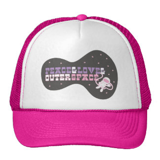 Peace and Love and Outer Space Trucker Hat