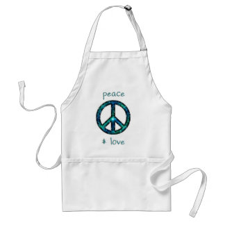 PEACE AND LOVE ADULT APRON
