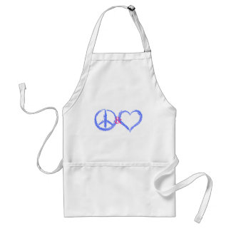 Peace and Love Aprons