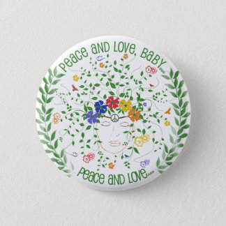 Peace and Love, Baby... Pinback Button