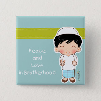 Peace and Love Badge Button